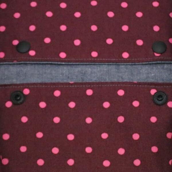 【L】【リバーシブル】ダンガリーブルー×ラズベリードット/抱っこひも収納カバー「ルカコ」 88-1002-11