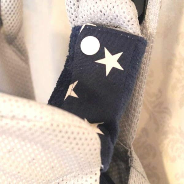 抱っこ紐のよだれカバー ベビービョルン専用FUWA【星柄ネイビー】「ルカコ」52-0671-11