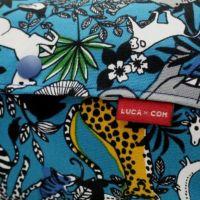 【L】サファリ柄ターコイズ/抱っこひも収納カバー「ルカコ」 88-1009-11