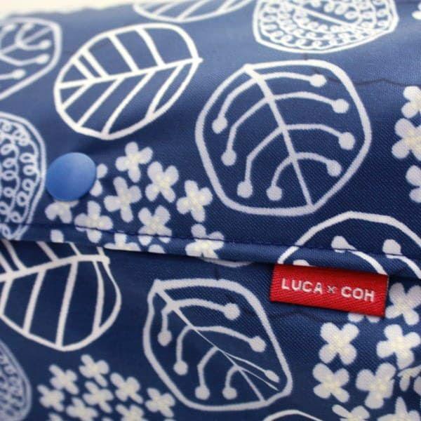【L】【防水生地】ナイロンオックス ネイビー 小さなお花とリーフ柄/抱っこひも収納カバー「ルカコ」 88-1020-11