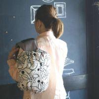 【ヒップシート対応】北欧風モノトーンホワイト アート風ブラックライン花柄/抱っこひも収納カバー「ルカコ」80-0238-11