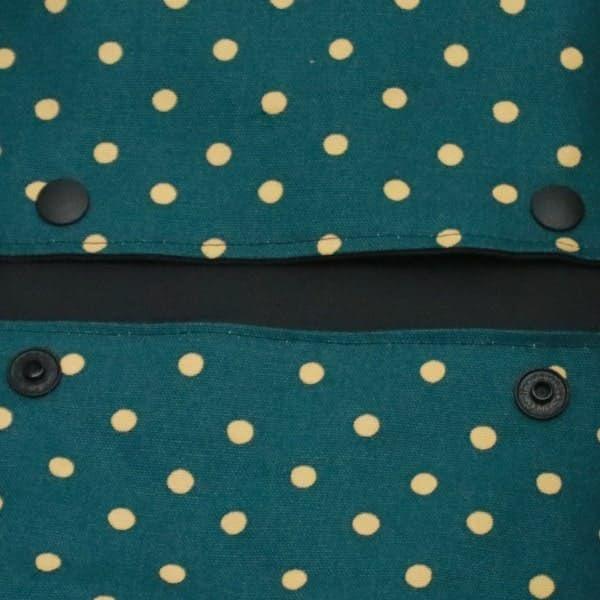 【L】【撥水加工】【リバーシブル】ブラック×グリーンドット/抱っこひも収納カバー「ルカコ」 88-1027-11