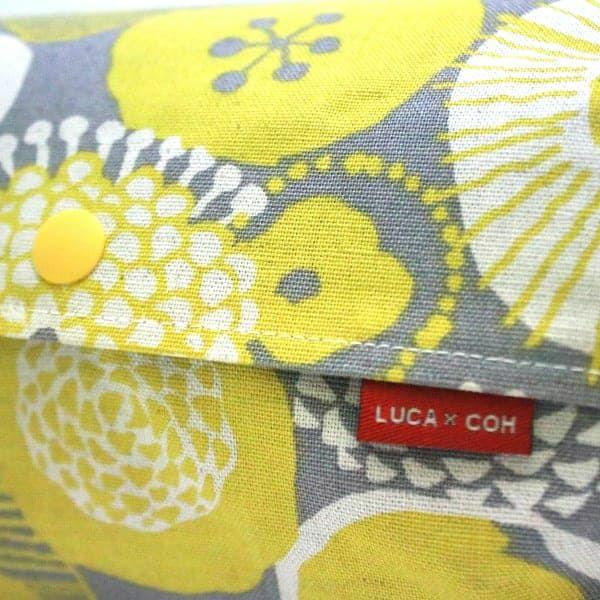 L】北欧風黄色と白の丸いお花柄/抱っこひも収納カバー「ルカコ」 88-1031-11