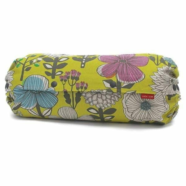 【L】北欧風大きめ花柄 イエロー/抱っこひも収納カバー「ルカコ」 88-1036-11