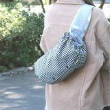 【L】千鳥格子ブラック/抱っこひも収納カバー「ルカコ」88-1041-11