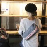 【M】【レイヤー】ダンガリーグレー×ダリアピンク/抱っこひも収納カバー「ルカコ」0956-11