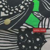 【L】アートフラワー グリーン/抱っこひも収納カバー「ルカコ」88-1023-11