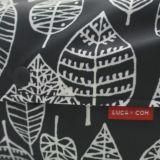 【L】【防水生地】ナイロンオックス リーフ柄 ブラック 抱っこひも収納カバー 「ルカコ」 88-1021-11