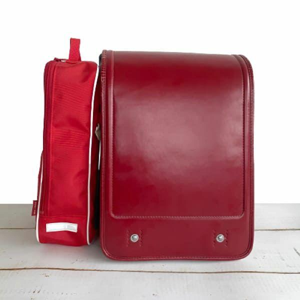 【てぶラン・スマート】自宅用レッド/ランドセルサイドポーチ(バッグ) ランドセル通学を手ぶらでおしゃれにスマートに1000-12-03