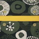 【L】北欧風カーキと白の丸いお花柄/抱っこひも収納カバー「ルカコ」 88-1062-11
