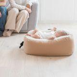 【おやすみたまごプラス】赤ちゃん寝かしつけ授乳クッション ベビーベッド Cカーブ ソファー 妊婦抱き枕 新生児 双子にも長く使えるビーズクッション正規品 日本製1000-03-6