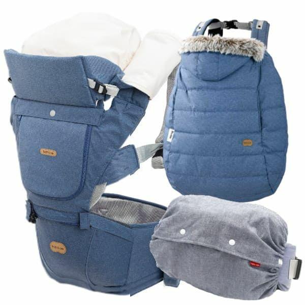 【ベルクBELK./ネイビー】ベビーアンドミー 抱っこ紐防寒ケープ・収納カバー【セット】1000-07-35