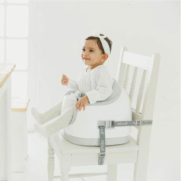 【バンボ マルチシート】離乳食やお食事ができるテーブル机付きのおしゃれな椅子バンボ正規品!【クールグレー】大人用椅子に設置可、テーブル収納でスマート、高さ段階調節可(対象年齢約6か月~3歳15kg)で長く使えるお得なタイプ1000-37-01