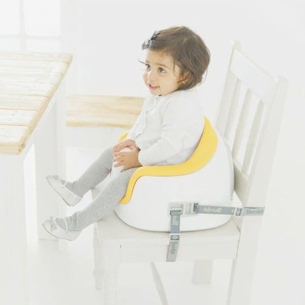 【バンボ マルチシート】離乳食やお食事ができるテーブル机付きのおしゃれな椅子バンボ正規品!【ミモザイエロー】大人用椅子に設置可、テーブル収納でスマート、高さ段階調節可(対象年齢約6か月~3歳15kg)で長く使えるお得なタイプ1000-37-05